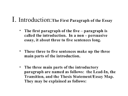 Standard Five Paragraph Essay Outline Format Letters marketing