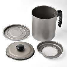 1.6L Stainless Steel Strainer <b>Dustproof Grease</b> Keeper Cooking Oil ...