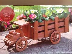 SOLID WOOD RUSTIC TRICYCLE <b>PLANTER</b> SOLID WOOD ...