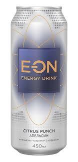 Купить <b>Напиток энергетический E-on</b> Citrus Punch, 450 мл с ...