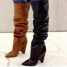 <b>ENMAYER</b> Over-the-Knee Boots For Women Big <b>Size34</b>-<b>43</b> Flock ...