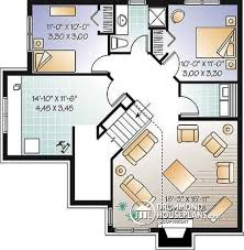 House plan W detail from DrummondHousePlans com    Basement Split level  bedroom bungalow   workshop and mezzanine   Jasper