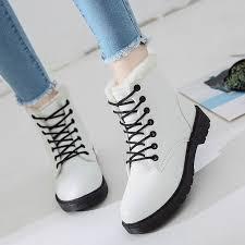 <b>Women Super High</b> Martin Boots Winter <b>Fashion</b> Lace Up Warm ...