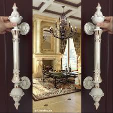 glass top office furniture europe vinatge ivory white big gate door handle white gold glass wooden big office desks