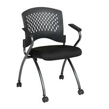 Coal FreeFlex <b>Rolling</b> Visitor <b>Office Chair</b> (Set of <b>2</b>)