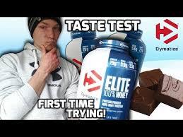 Dymatize <b>Elite 100</b>% <b>Whey</b> Taste Test/ Review | CHOCOLATE ...