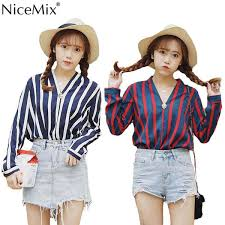 <b>2019 NiceMix 2019</b> New Spring Autumn Women Blouse Chiffon V ...