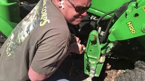 John Deere 1023e 1025r Hydraulic Line Won't Insert. FIX!!!! Can't ...