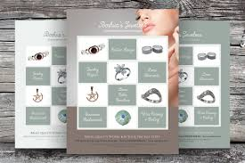 jeweler or jewelry store flyer flyer templates on creative market