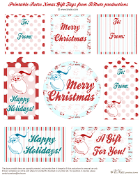 bnute productions  printable retro christmas gift tags by b nute productions