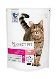 Корм <b>Perfect Fit</b> сухой корм для взрослых кошек с говядиной ...