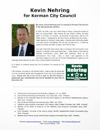kevin nehring pls for kerman city council campaign flyers campaign flyers