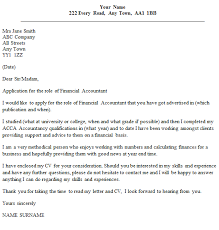 financial accountant cover letter example financial cover letter examples