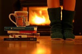 Image result for winter by the fire place