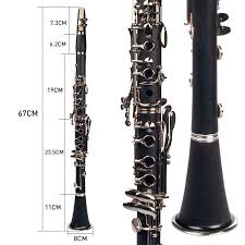<b>NAOMI</b> 1set Clarinet ABS <b>17 Key</b> BB Flat Soprano Clarinet Musical ...