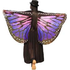 <b>Halloween</b>/<b>Party</b> Prop Soft Fabric Butterfly Wings Shawl Fairy Ladies ...