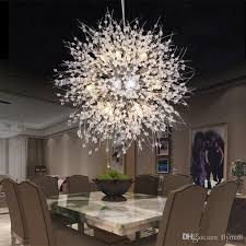 <b>Modern</b> Dandelion <b>LED</b> Ceiling Light Crystal Chandeliers Lighting ...