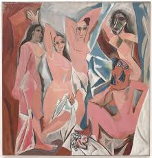 pablo picasso the human condition guernica writework les demoiselles d avignon oil on canvas 244 x 234 cm