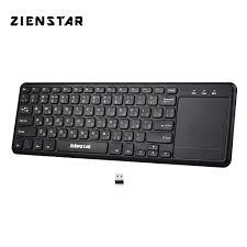 <b>Zienstar 2.4Ghz Touchpad Wireless</b> Russia Keyboard for Windows ...