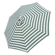 white striped patio umbrella: get quotations middot  foot patio market umbrella replacement canopy with green and white stripes