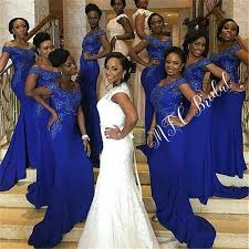 <b>Wholesale African</b> Bridesmaid Dresses 2019 Mermaid Royal Blue ...