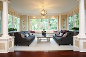 traditional living room decor with white pillar decor ideas in united states beautiful living room pillar