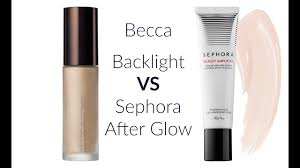 Becca Backlight vs <b>Sephora</b> Afterglow - YouTube