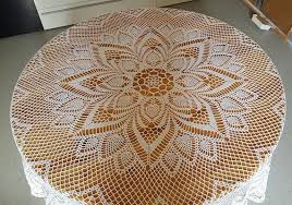 Beautiful <b>tablecloth</b> to crochet, 100% cotton No. <b>5</b> New, recently ...