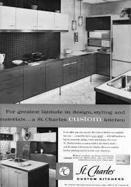 st charles kitchen cabinets: st charles introduced flush wood fronts on steel cabinets the beginning of the combination of materials concept