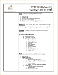 examples of agendas letter format mail