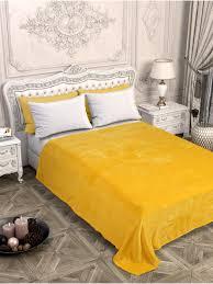 <b>Плед</b> желтый, <b>200х200</b> см, <b>Велсофт</b> - купить в интернет ...