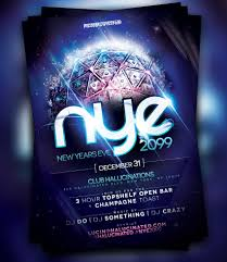 amazing christmas and new year s eve flyers for the holiday season nye 2099 party flyer template