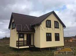Двухэтажный каркасный дачный дом Уют площадью 107 м² ...