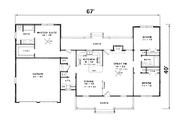 Kings Ferry Country Ranch Home Plan D    House Plans and MoreRanch House Plan First Floor   D    House Plans and More