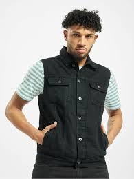 <b>Urban Classics</b> Куртка / Безрукавка Denim Vest черный 105176