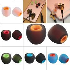 2PC/<b>1 Pair Colorful</b> Rubber 3.8mm In ear Earphone Earbuds ...