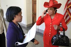 Image result for frederica wilson on phone