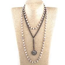 Fashion <b>Bohemian</b> Tribal Jewelry <b>3 Layer</b> Multiple White Stone ...