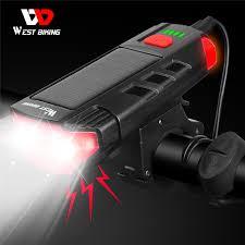 WEST BIKING 2000mAh <b>Solar Power Bicycle Light</b> USB ...