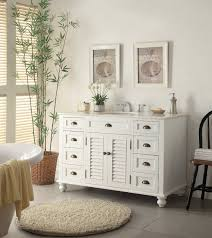 Bathroom White Vanities White Woodenvanity Having Many Wooden Drawer And Marble Top And