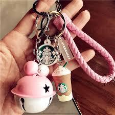 <b>Cute Cartoon</b> Starbucks Coffee Cup Braided Rope Bell <b>Couple</b> ...