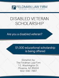 Disabled Veteran Scholarship | The Feldman Law Firm, PLLC