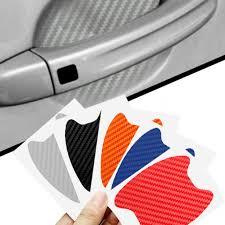 <b>4Pcs</b>/<b>Set Universal 3D</b> carbon fiber Car Door Handle Scratches ...