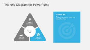 round point flat triangle powerpoint diagram    round point triangle design powerpoint diagrams