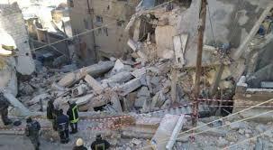 الاردن - بعد انهيار مبنى سكني في جبل الجوفة انهيار عمارتين في الزرقاء .
