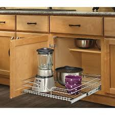 Kitchen Cabinet Slide Out Shop Rev A Shelf 205 In W X 7 In H Metal 1 Tier Pull Out Cabinet