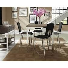dining room pub style sets: coaster company eldridge collection weathered grey counter table