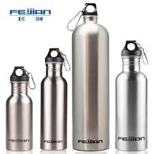 <b>Feijian Sport Water Bottle</b> Large Capacity Portable Stainless Steel ...