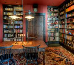 rustic home office designs home office rustic with red wall double pendant light red ceiling blue home office dark wood