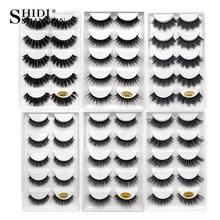ysdo 7 pairs new arrivals lashes natural long 3d mink hand made false makeup 1 box faux eyelash